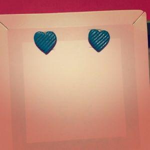 Jewelry - Blue heart earrings